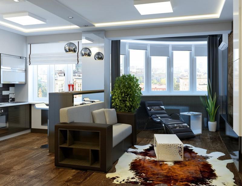 Квартира студия дизайн интерьера 30 м