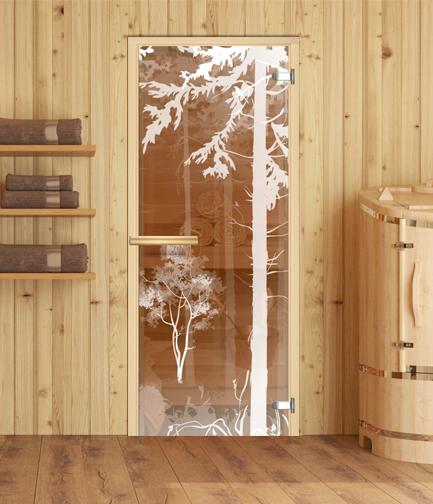 дверь стеклянная для бани или сауны
